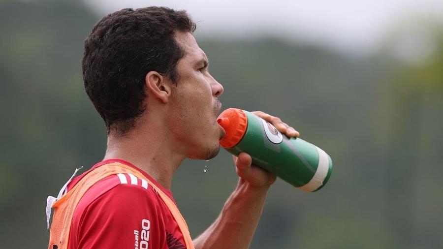 Hernanes marcou três gols no treino de ontem realizado no CFA Laudo Natel, em Cotia -  Rubens Chiri / saopaulofc.net