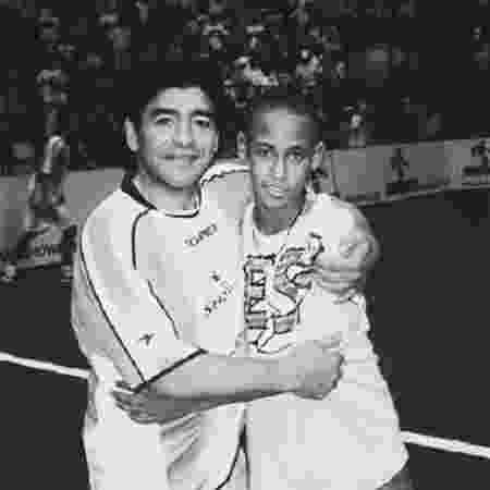 Maradona e Neymar - Reprodução/Instagram