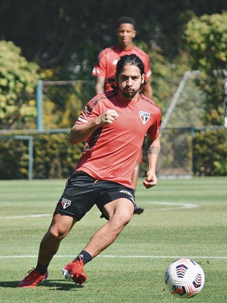 Benitez, meia do São Paulo, em treino no CT da Barra Funda - Erico Leonan / saopaulofc