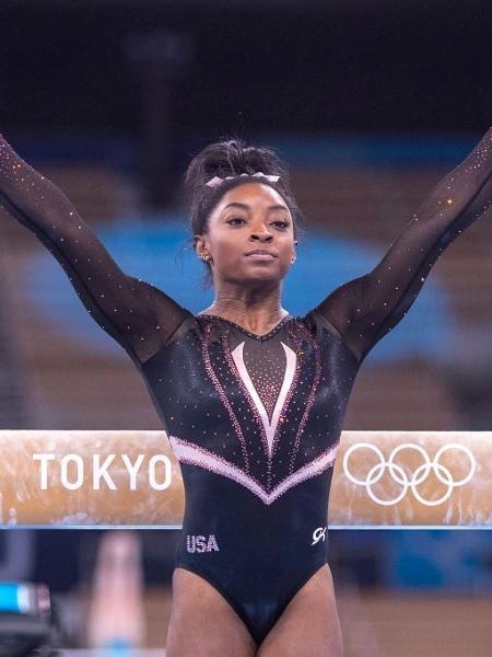 Simone Biles decidiu abandonar final olímpica para focar na saúde mental - Tim Clayton - Corbis/Corbis via Getty Images