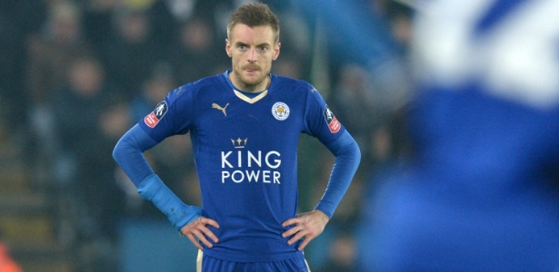 Jamie Vardy tem se destacado com a camisa do Leicester  - Oli Scarff/AFP Photo
