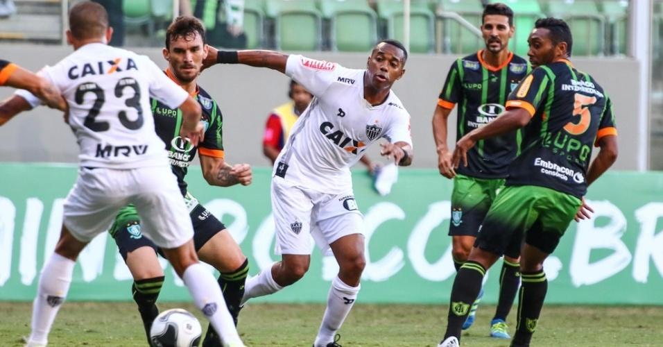 Nem mesmo com Robinho em campo o Atlético-MG conseguiu vencer o América-MG