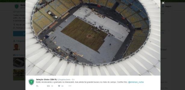 A imagem do Maracanã que chegou polêmica