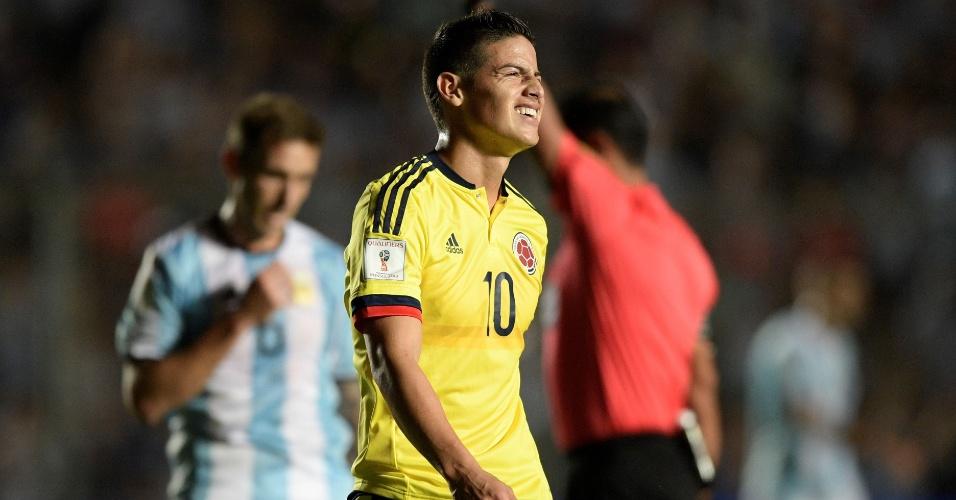 Pelas Eliminatórias, o colombiano James Rodriguez lamenta chance perdida diante da Argentina