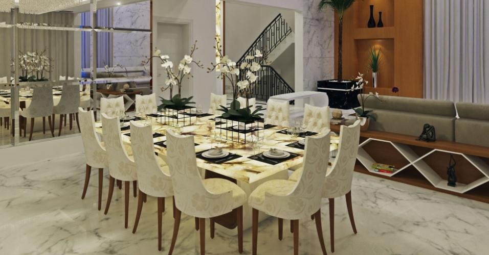 Sala de jantar da casa do jogador