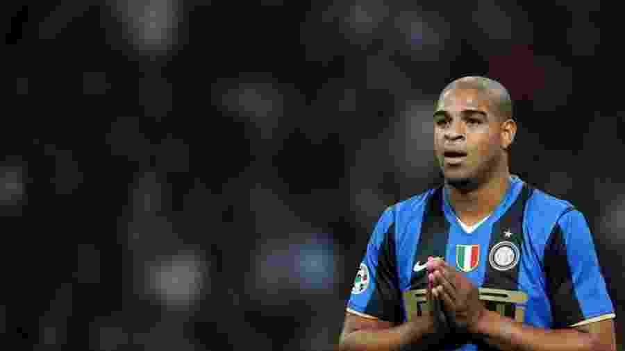 Em 177 partidas com a Internazionale, Adriano marcou 74 gols e deu 21 assistências - AFP