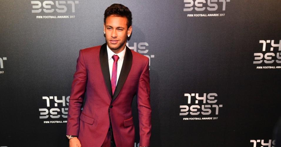 Neymar chega para a cerimônia de melhor jogador do mundo da Fifa