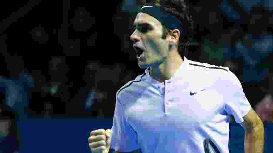 Federer durante fiinal contra Del Potro - Arnd Wiegmann/Reuters