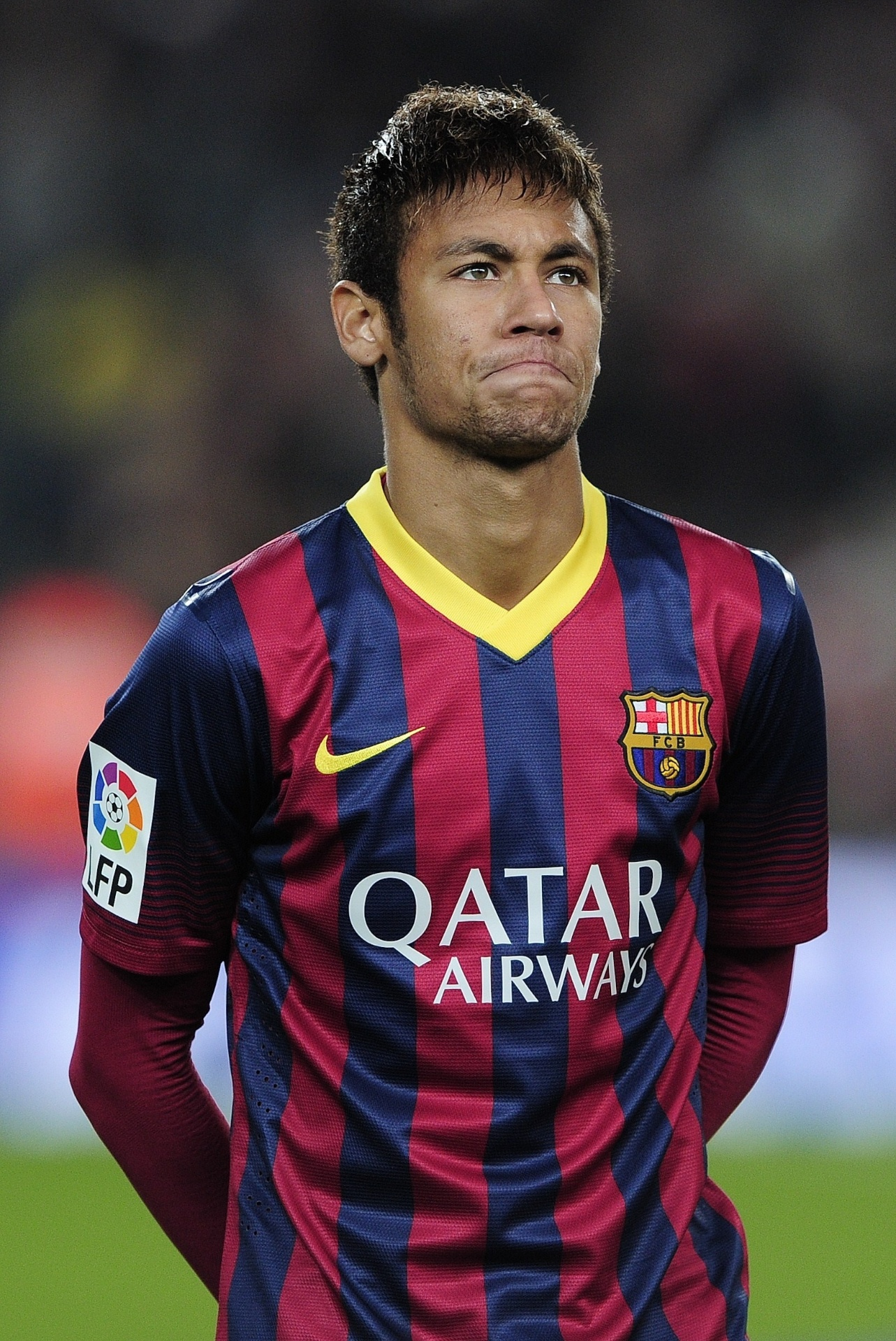 Atacante Neymar antes do jogo do Barcelona contra o Villarreal, em dezembro de 2013