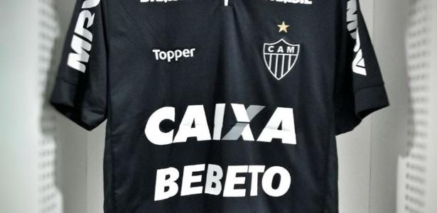Atlético-MG vai enfrentar o Figueirense de preto e com o nome de Bebeto estampado nas camisas