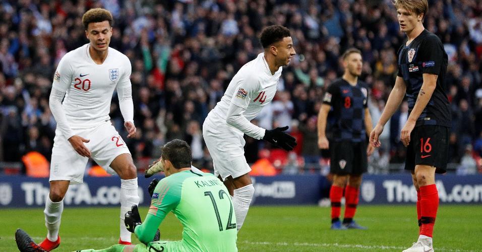 Inglaterra Croácia Lingard comemora gol
