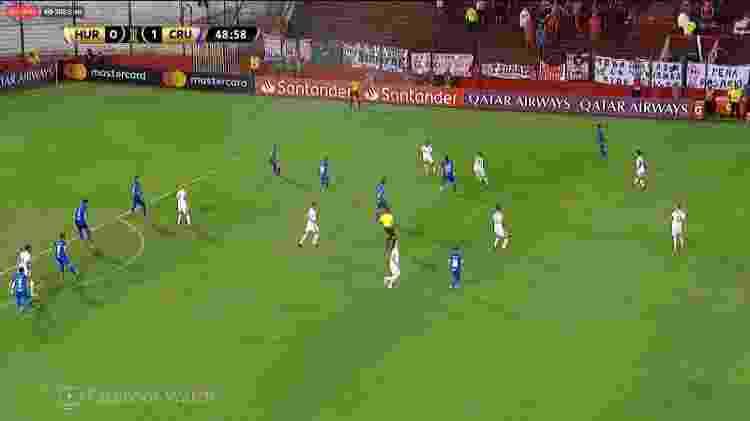 Transmissão de Huracán x Cruzeiro via Facebook - Reprodução - Reprodução