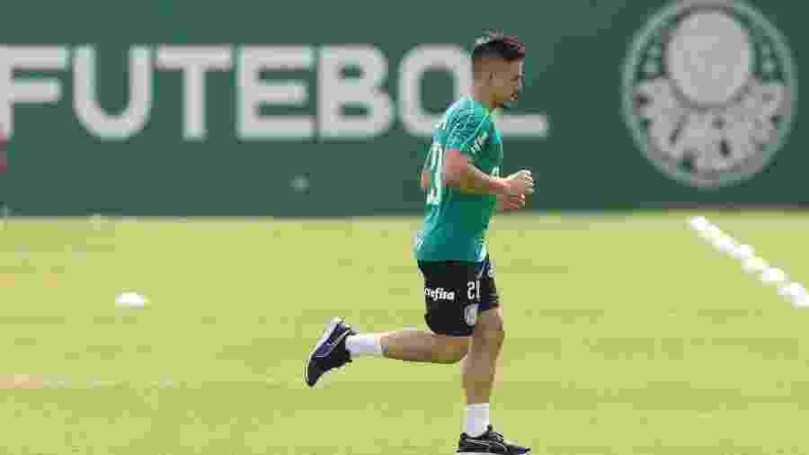 Willian em treino do Palmeiras na Academia de Futebol - Cesar Greco/Ag. Palmeiras/Divulgação
