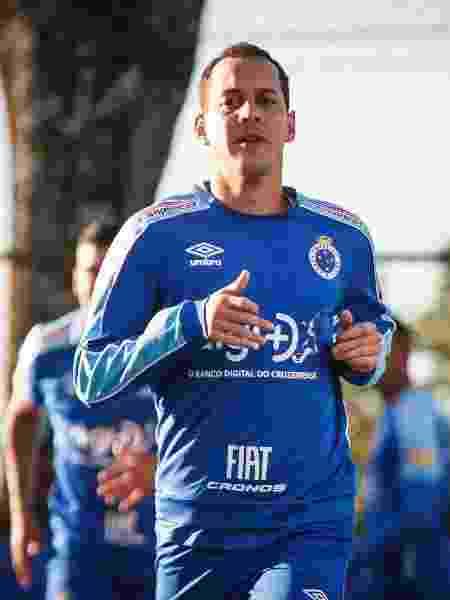 Meia Rodriguinho, em treinamento do Cruzeiro na Toca da Raposa - Vinnicius Silva/Cruzeiro - Vinnicius Silva/Cruzeiro