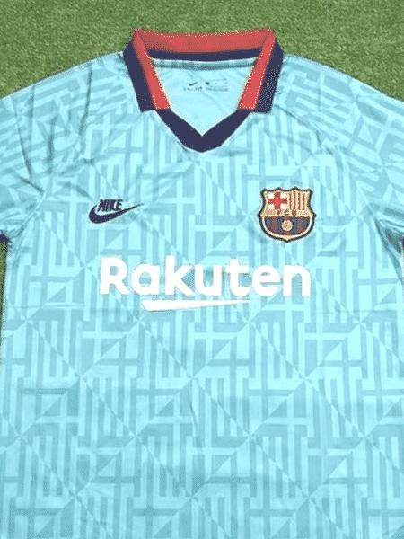 Suposto terceiro uniforme do Barcelona vaza na web - Reprodução/Twitter