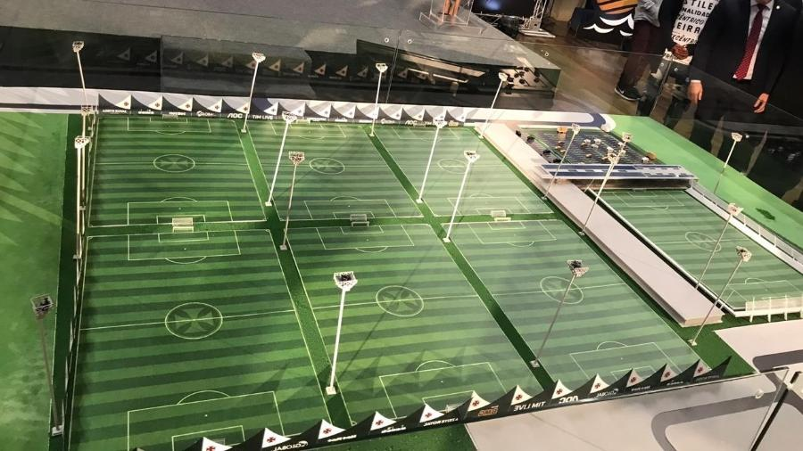 Maquete do centro de treinamento do Vasco que está sendo construído em Jacarepaguá (RJ) - Bruno Braz / UOL