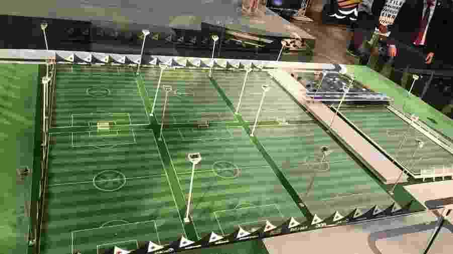 Maquete do projeto total do centro de treinamento do Vasco que será construído na Barra da Tijuca (RJ) - Bruno Braz / UOL