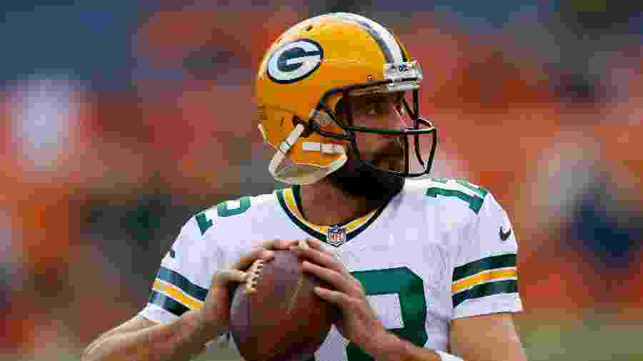 Aaron Rodgers, quarterback do Green Bay Packers - Justin Edmonds/Getty Images/AFP