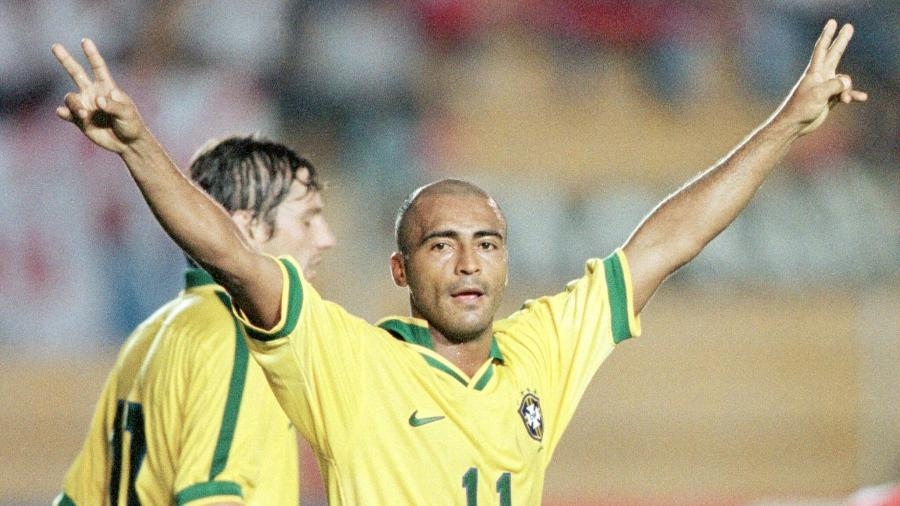 Romário, em ação pela seleção brasileira na Copa América de 1997 - Jose Miguel Gomez/Reuters