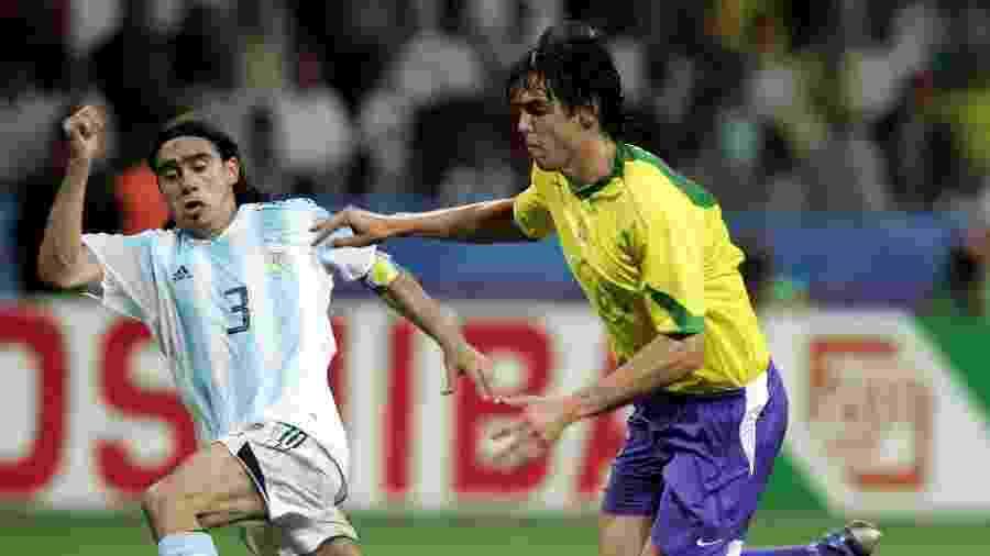 Kaká fez um gol na goleada do Brasil na final da Copa das Confederações de 2005 - Getty Images