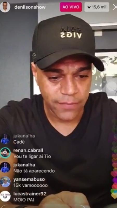 Momento em que Denilson ameaça ligar para Belo e xinga o cantor - Reprodução/Instagram