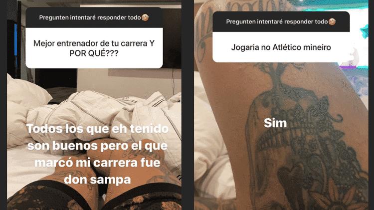 Eduarda Vargas elogia Jorge Sampaoli e diz que jogaria no Atlético Mineiro - Reprodução/Instagram - Reprodução/Instagram