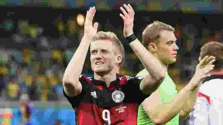 Schürrle, jogador da Alemanha, depois da semifinal contra o Brasil na Copa de 2014 - Marcus Brandt/picture alliance via Getty Images - Marcus Brandt/picture alliance via Getty Images