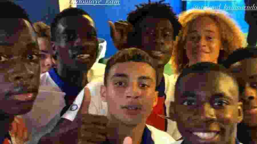 Jovens do PSG que atuaram em amistoso contra o Sochaux - Divulgação/PSG