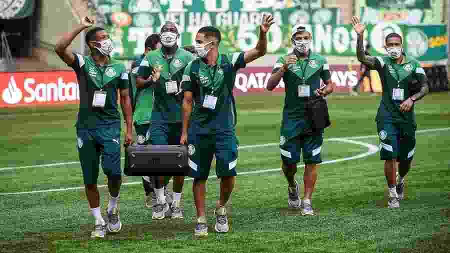 Danilo, Patrick de Paula, Gabriel Silva, Gabriel Menino e Esteves chegam no Allianz Parque - Staff Images/CONMEBOL