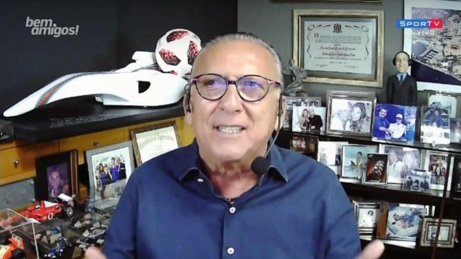 Galvão Bueno celebra aniversário de 80 anos de Gérson - Reprodução/SporTV