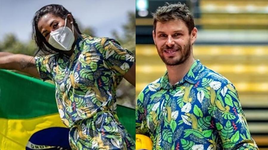 Ketleyn Quadros e Bruninho serão os porta-bandeiras do Brasil na Olimpíada de Tóquio - Divulgação/COB
