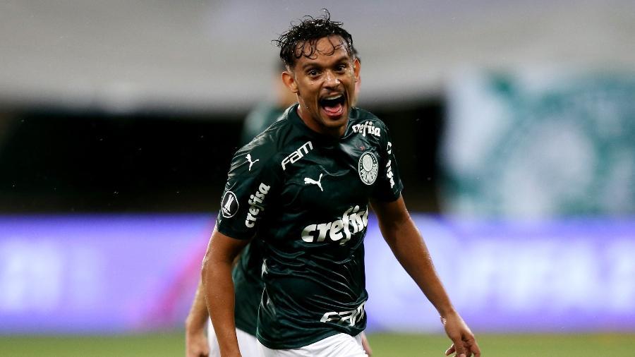 Gustavo Scarpa comemora gol do Palmeiras pela Libertadores - Alexandre Schneider/Getty Images