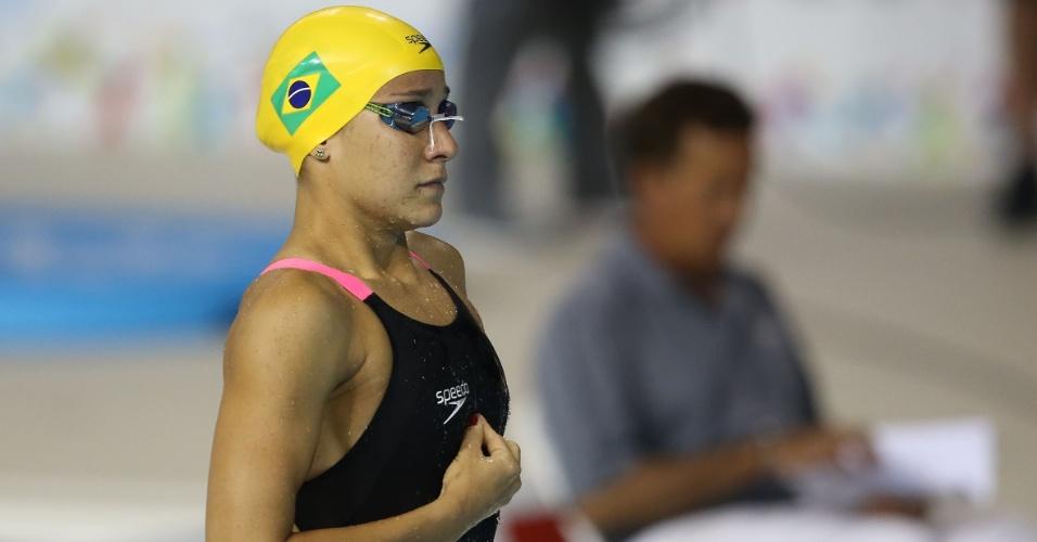 Joanna Maranhao se prepara para a bateria eliminatória dos 200m medley