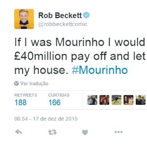 O humorista britânico Rob Beckett usou Özil, meio-campista do rival Arsenal que se destaca com passes para gol, para a zoeira - Reprodução / Twitter