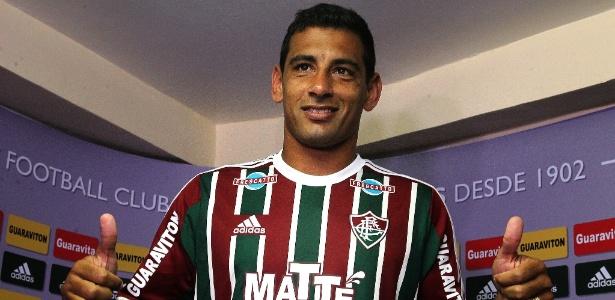 Diego Souza foi apresentado oficialmente nesta terça-feira pelo Fluminense - NELSON PEREZ/FLUMINENSE F.C.