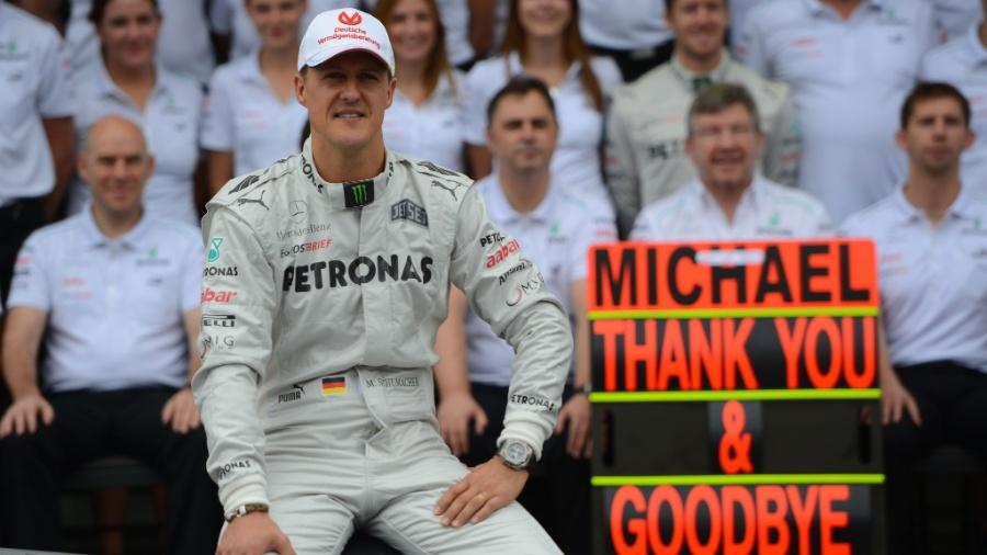 O piloto alemão Michael Schumacher - YASUYOSHI CHIBA-25.nov.2012/AFP