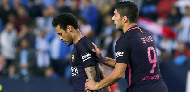 Neymar foi expulso contra o Málaga