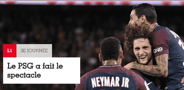 Neymar na France Footbal - Reprodução - Reprodução