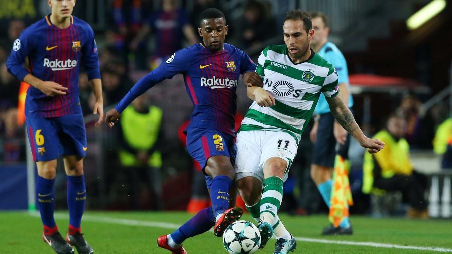 Nélson Semedo não entrou em um acordo de renovação de contrato com o time catalão - Albert Gea/Reuters