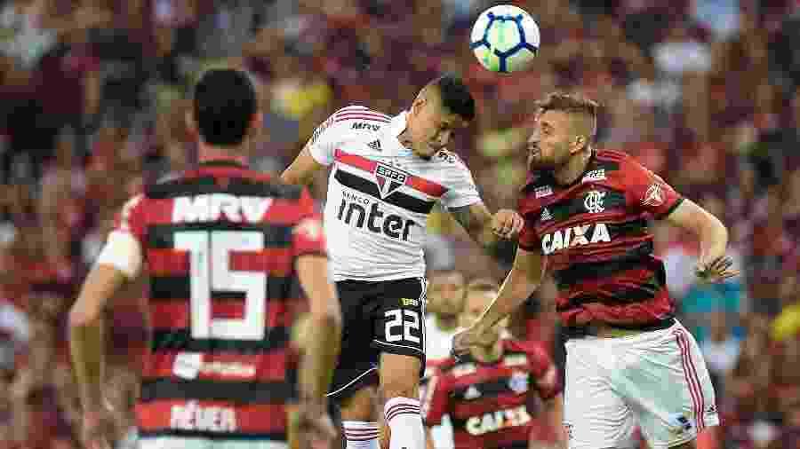 Flamengo perdeu para o São Paulo na retomada do Brasileiro do passado, em casa - Thiago Ribeiro/AGIF