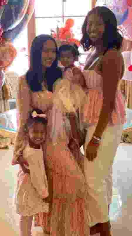 Vanessa Bryant e as filhas no aniversário de um ano da caçula - Reprodução/Instagram - Reprodução/Instagram