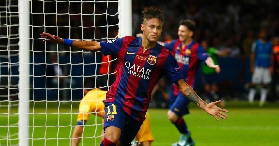Neymar conquistou seu primeiro título da Liga dos Campeões neste sábado, com vitória do Barcelona por 3 a 1 sobre a Juventus