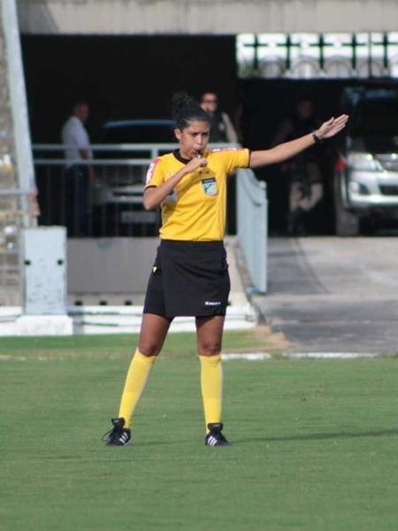 Ruthyanna Camila durante partida da segunda divisão do Piauiense - Arquivo pessoal
