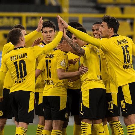 Jogadores do Borussia Dortmund celebram vitória na Copa da Alemanha - Reprodução/Instagram
