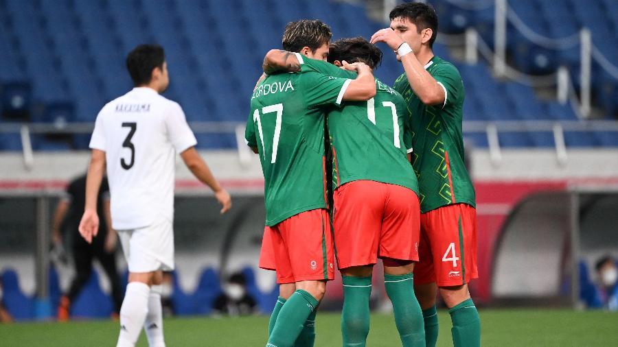 México caiu para o Brasil nos pênaltis nas semifinais, mas venceu o Japão com autoridade na disputa do terceiro lugar - Jonathan Nackstrand/AFP