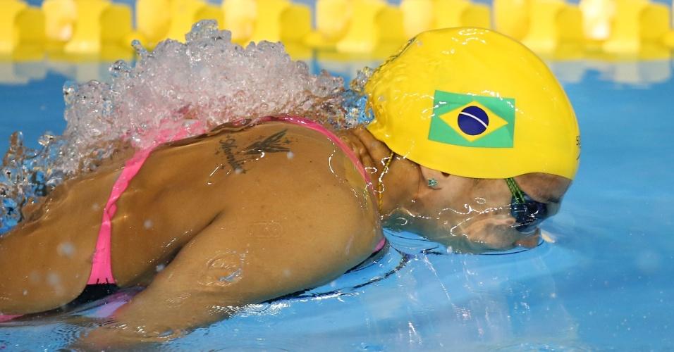 Joanna Maranhão venceu sua bateria e avançou à final dos 200 m borboleta com o sexto melhor tempo classificatório