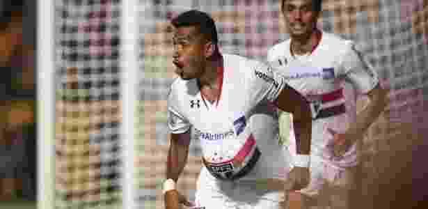 Rogério comemora gol na vitória por 1 a 0 contra o Cesar Vallejo - Rubens Chiri/saopaulofc.net - Rubens Chiri/saopaulofc.net