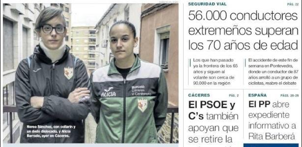 A jornal, jogadoras do Femenino Cáceres relatam agressões em jogo no fim de semana