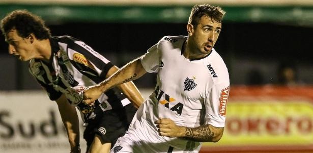Pratto sai para comemorar logo depois de abrir o placar para o Atlético-MG contra o Tupi - Bruno Cantini/Clube Atlético Mineiro