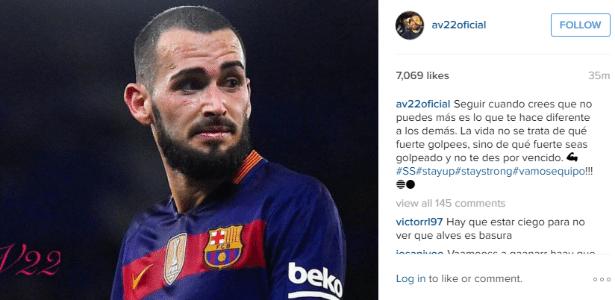 Aleix Vidal usou as redes sociais para falar sobre sua situação no Barcelona - Reprodução/Instagram